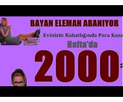 KAMERALI SOHBET OPERATÖRLERİ ALINACAKTIR