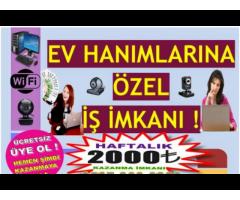 EVİNİZİN RAHATLIGINDA SAATLİK 30 TL