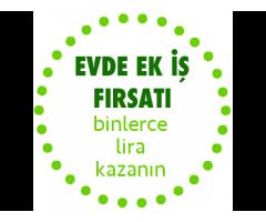 BAYAN ÖĞRENCİLERE EV HANIMLARINA EVDEN EKİŞ EK GELİR PARA KAZANMA FIRSATI....
