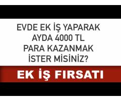 HAFTALIK HER PAZARTESİ ÖDEMEL