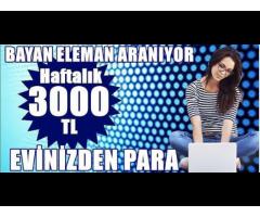 EK İŞ EK GELİR ARAYAN BAYANLAR 1000-2000 TL ARASINDA YÜKSEK KAZANÇ