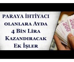 YÜKSEK İŞ FIRSATI İLE HAFTADA 1000-2000 TL ARASINDA KENDİ  EVİNİZDEN ÇALIŞ