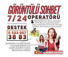 Kamerali Sohbet Operatoru - Goruntulu
