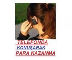 Telefonda bayan sohbet operatörü aranıyor