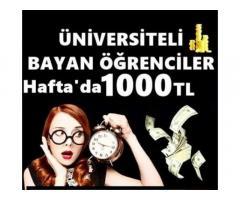 HAFTALIK 1500 TL BAYANLARA NETTEN EK İŞ FIRSATI