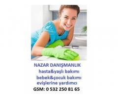 istanbul/şile,hasta bakıcısı,yaşlı bakıcısı,çocuk bakıcı,evişlerine yardımcı