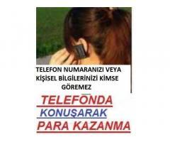 Görüntü olmadan Telefonda Sohbet Ederek Para Kazanma