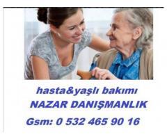 Kahramanmaraş Pazarcık'ta yaşlı bakıcısı