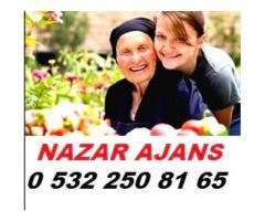 Rize'de yaşlı bakıcısı
