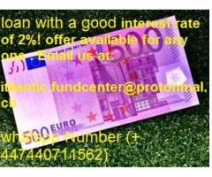 Contact us for a quick and inexpensive loan with a good interest rate of 2%!