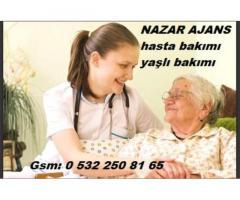 Kahramanmaraş'ta hasta bakıcı Kahramanmaraş'ta yaşlı bakıcısı