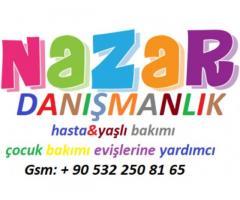 Konya'da hasta bakıcı Konya'da yaşlı bakıcısı Konya'da yatılı yardımcı