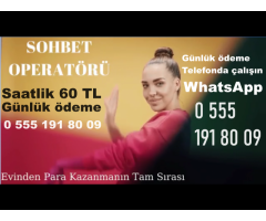 GÖRÜNTÜLÜ SOHBET OPERATÖRÜ ARANIYORR.!