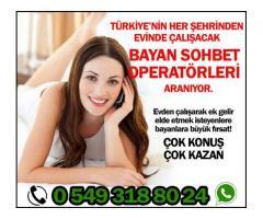 TELEFONDA SOHBET OPERATÖRÜ ARANIYOR.